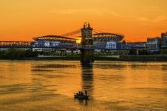 Paul Brown Stadium Sunset